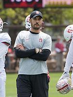 Stanford, CA - April15, 2017:  Coach Tavita Pritchard at Cagan Stadium.