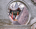 AA01212-01...CHINA - Pavillion at Huaqing Hot Spring near Xi'an.