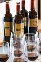 Wine tasting. Wine glasses. Chateau Brane Cantenac, Margaux, Medoc, bordeaux, France