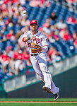 20 September 2015: Washington Nationals shortstop Ian Desmond gets the second out of the second inning against the Miami Marlins at Nationals Park in Washington, DC. The Nationals defeated the Marlins 13-3 to take the final game of their 4-game series. Mandatory Credit: Ed Wolfstein Photo *** RAW (NEF) Image File Available ***