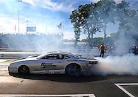 Jun 10, 2016; Englishtown, NJ, USA; NHRA pro stock driver Chris McGaha during qualifying for the Summernationals at Old Bridge Township Raceway Park. Mandatory Credit: Mark J. Rebilas-USA TODAY Sports