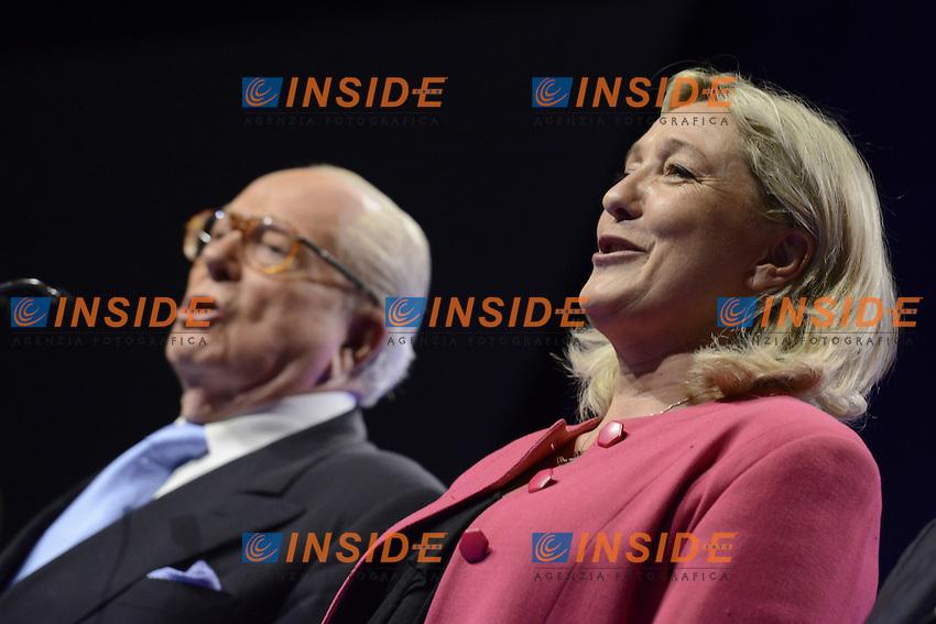 20-05-2014 Marsiglia Meeting de Jean Marie Le Pen et de Marine Le Pen - Front National FN <br /> Foto Panoramic / Insidefoto