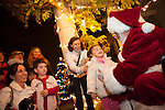 Santa Clause greets youth after the Los Altos tree lighting Dec. 7.