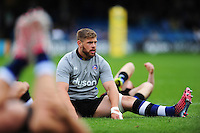 Dave Attwood of Bath Rugby looks on during the pre-match warm-up. Aviva Premiership match, between Bath Rugby and Worcester Warriors on September 17, 2016 at the Recreation Ground in Bath, England. Photo by: Patrick Khachfe / Onside Images