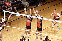 SAN ANTONIO, TX - SEPTEMBER 15, 2016: The University of Texas at San Antonio Roadrunners defeat the Texas State University Bobcats 3-1 (22-25, 25-12, 25-20, 25-20) at the UTSA Convocation Center. (Photo by Jeff Huehn)