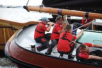 SKÛTSJESILEN: TERHERNE: 22-07-2015, SKS kampioenschap 2015, winnaar werd skûtsje Gerben van Manen (Heerenveen) met schipper Alco Reijenga, ©foto Martin de Jong