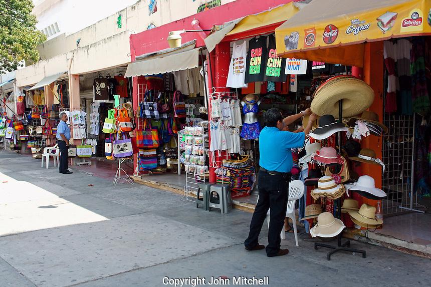 Mercado Ki huic handicrafts market on Avenida Tulum in downtown, Cancun, Quintana Roo, Mexico.