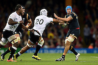 Justin Tipuric of Wales in possession. Rugby World Cup Pool A match between Wales and Fiji on October 1, 2015 at the Millennium Stadium in Cardiff, Wales. Photo by: Patrick Khachfe / Onside Images