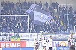 Die Fans aus Sandhausen im Spiel der 2. Bundesliga, SV Sandhausen - FC St. Pauli.<br /> <br /> Foto &copy; P-I-X.org *** Foto ist honorarpflichtig! *** Auf Anfrage in hoeherer Qualitaet/Aufloesung. Belegexemplar erbeten. Veroeffentlichung ausschliesslich fuer journalistisch-publizistische Zwecke. For editorial use only.