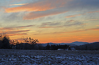 Winter Sunrise on a Cold Morning on Pitcher Mountain with a View of Crotched Mountain in New Hampshire