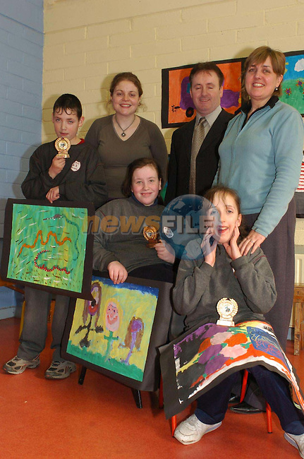 Micheal Shields, Rosanna Donovan and Leone Carr with resident Artist ///, Ken Healy and Mairead Lattimer.Photo Fran Caffrey/Newsfile.ie...This Picture has been sent to you by Newsfile Ltd..The Studio,.Millmount Abbey,.Drogheda,.Co. Meath,.Ireland..Tel: +353(0)41-9871240.Fax: +353(0)41-9871260.ISDN: +353(0)41-9871010.www.newsfile.ie..general email: pictures@newsfile.ie