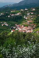 Soajo, Peneda Geres National Park, Portugal, June 2011. Small hamlets, evergreen gardens and vineyards mark the Soajo area.  In the extreme North of Portugal, between the Atlantic Coast and the Spanish border are the mountains and valleys of Peneda Geres National Park. Walk along narrow shepherd trails or on the ancient cement of Roman roads. From lush river valleys to bare rocky mountain peaks.  Photo by Frits Meyst/Adventure4ever.com