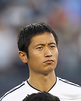 Vancouver Whitecaps FC defender Young-Pyo Lee (12). In a Major League Soccer (MLS) match, the New England Revolution defeated Vancouver Whitecaps FC, 4-1, at Gillette Stadium on May 12, 2012.