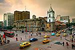 Colombia, Bogota, Intersection Of Avendia Jimenez And Carrera Septima, 16th Century Iglesia de San Francisco, Bogota's Oldest Restored Church, South America