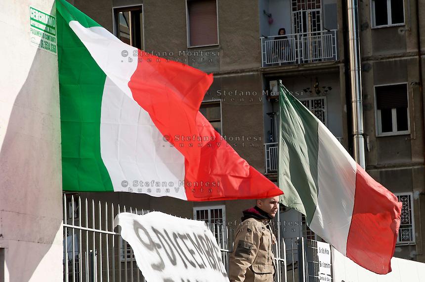 Roma 9 Dicembre 2013<br /> Manifestazione del Movimento dei forconi  a Roma, contro i politici contro euro e questo modello di Europa.<br /> Rome, December 9, 2013<br /> Manifestation of the Movement pitchforks in Rome, against the politicians against the euro and this model of Europe.