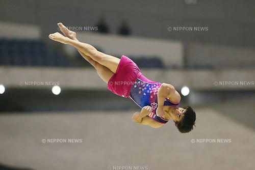 Kenzo Shirai, <br /> MAY 17, 2015 - Artistic Gymnastics : <br /> The 54th NHK Cup <br /> Men's Individual All-Around <br /> Floor <br /> at Yoyogi 1st Gymnasium, Tokyo, Japan. <br /> (Photo by YUTAKA/AFLO SPORT)