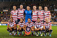 United States (USA) starting eleven. The United States (USA) and Germany (GER) played to a 2-2 tie during an international friendly at Rentschler Field in East Hartford, CT, on October 23, 2012.
