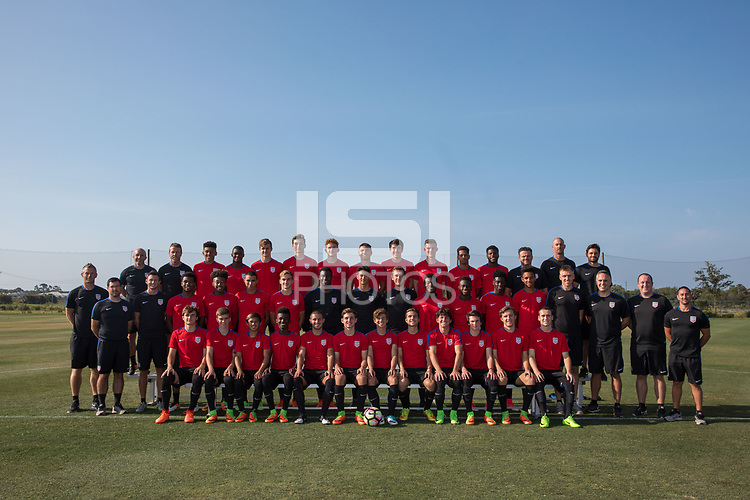 Bradenton, FL - Monday April 17, 2017: U.S. Soccer U-17 Men's National Team program photo.