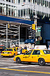 taxis in New york City in October 2008