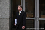 Ken Coghlan, attorney for FBI agent Hal Neilson, leaves federal court after Neilson's arraignment on Monday, February 1, 2010 in Oxford, Miss.