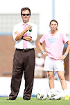 25 September 2011: UNC head coach Anson Dorrance (left) with undergraduate assistant coach Brittani Bartok (right). The University of Virginia Cavaliers defeated the University of North Carolina Tar Heels 1-0 in overtime at Fetzer Field in Chapel Hill, North Carolina in an NCAA Division I Women's Soccer game.