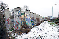 Remains of the Berlin Wall close to the Memorial at Bernauer Strasse in Berlin.
