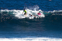 Margaret River, Western Australia.  (Tuesday, April 5, 2011). Mason Ho (HAW), Chris Ward (USA) and Alejo Muniz (BRA).  The Six Star Prime Telstra Drug Aware Pro continued  with the Round of 24 of the  Women's competition before commencing the Men's competition with eight heats of the Round of 96. The contest is the biggest surfing event ever held in Western Australia with 26 out of the Top 32 ranked surfers in the world competing.- Photo: joliphotos.com
