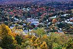 Overview of quaint New England town, North Adams, Massachusetts, USA