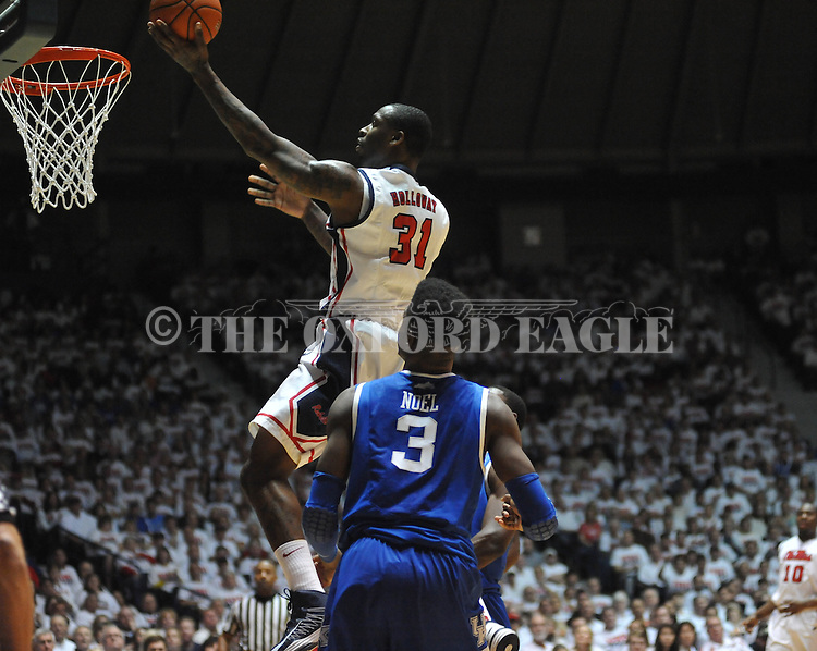 "Ole Miss' Murphy Holloway (31) vs. Kentucky at the C.M. ""Tad"" Smith Coliseum on Tuesday, January 29, 2013. Kentucky won 87-74. (AP Photo/Oxford Eagle, Bruce Newman).."