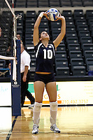SAN ANTONIO, TX - SEPTEMBER 11, 2008: The Cameron University Aggies vs. the St. Edward's University Hilltoppers Women's Volleyball at Bill Greehey Arena on the campus of St. Mary's University. (Photo by Jeff Huehn)