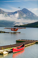 Float plane on Bear Lake, Moose Pass, Kenai Peninsula, Alaska