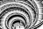Spectacular spiral staircase in the Vatican Museums in Rome (Italy) designed by Giuseppe Momo in 1932.