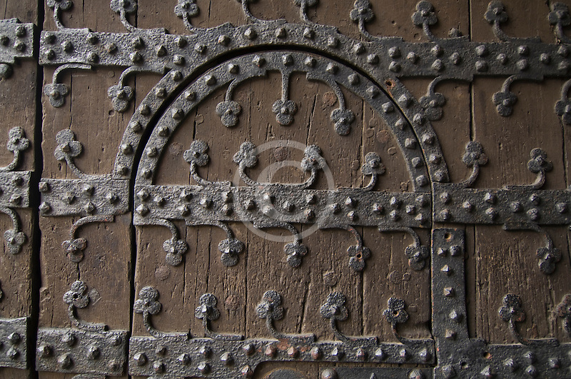 Belgium, Brussels, Town Hall, Grand Place, decorated door