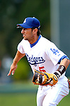 19 March 2006: Nomar Garciaparra, first baseman for the Los Angeles Dodgers, at first base during a Spring Training game against the Washington Nationals at Holeman Stadium, in Vero Beach, Florida. The Dodgers defeated the Nationals 9-1 in Grapefruit League play...Mandatory Photo Credit: Ed Wolfstein Photo..