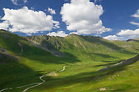 Road from Hatcher Pass to Willow, Alaska
