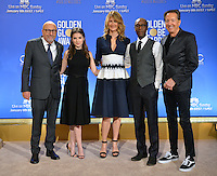 Hollywood Foreign Press Assoc. President Lorenzo Soria, actors Anna Kendrick, Laura Dern, Don Cheadle &amp; producer Barry Adelman at the nominations announcement for the 74th Golden Globe Awards at the Beverly Hilton Hotel, Beverly Hills, CA.<br /> December 12, 2016<br /> Picture: Paul Smith/Featureflash/SilverHub 0208 004 5359/ 07711 972644 Editors@silverhubmedia.com