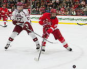 Sean Malone (Harvard - 17), Brendan Smith (Cornell - 2) - The Harvard University Crimson defeated the visiting Cornell University Big Red on Saturday, November 5, 2016, at the Bright-Landry Hockey Center in Boston, Massachusetts.