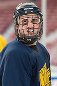 Vinny Scotti (Merrimack - 12) -  - The participating teams in Hockey East's first doubleheader during Frozen Fenway practiced on January 3, 2014 at Fenway Park in Boston, Massachusetts.