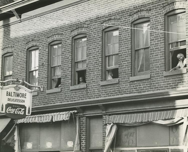 1958 Spring..Redevelopment.Downtown North (R-8)..Baltimore Delicatessen..Neal Clark Jr..NEG#.NRHA# 3371.Sleeve 154, Negative 17..