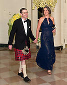 Alexander Macgillivray, Deputy Chief Technology Officer, The White House, and Shona Crabtree arrives for the State Dinner in honor of Prime Minister Trudeau and Mrs. Sophie Gr&eacute;goire Trudeau of Canada at the White House in Washington, DC on Thursday, March 10, 2016.<br /> Credit: Ron Sachs / Pool via CNP
