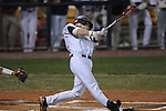 Ole Miss' Matt Snyder (33) hits an RBI double against Tulane at Oxford-University Stadium in Oxford, Miss. on Friday, March 4, 2010.