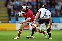 Hubert Buydens of Canada in possession. Rugby World Cup Pool D match between Canada and Romania on October 6, 2015 at Leicester City Stadium in Leicester, England. Photo by: Patrick Khachfe / Onside Images