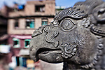 Statue of Garuda in Bhaktapur's Durbar Square.