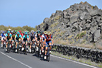 The peloton in action on the volcanic slopes of Mount Etna during Stage 4 of the 100th edition of the Giro d'Italia 2017, running 181km from Cefalu to Mount Etna, Sicily, Italy. 9th May 2017.<br /> Picture: LaPresse/Fabio Ferrari | Cyclefile<br /> <br /> <br /> All photos usage must carry mandatory copyright credit (&copy; Cyclefile | LaPresse/Fabio Ferrari)
