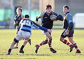 Fletcher in action for Old Cooperians - Old Cooperians RFC vs Old Brentwoods RFC - Essex Rugby League at Coopers Coborn School, Upminster - 30/01/10 - MANDATORY CREDIT: Gavin Ellis/TGSPHOTO - Self billing applies where appropriate - Tel: 0845 094 6026