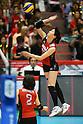 Risa Shinnabe (JPN), .May 26, 2012 - Volleyball : .FIVB Women's Volleyball World Final Qualification for the London Olympics 2012 .match between Japan 0-3 Russia .at Tokyo Metropolitan Gymnasium, Tokyo, Japan. .(Photo by Daiju Kitamura/AFLO SPORT) [1045]