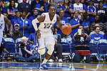 04 November 2014: Duke's Rasheed Sulaimon. The Duke University Blue Devils hosted the Livingstone College Blue Bears at Cameron Indoor Stadium in Durham, North Carolina in an NCAA Men's Basketball exhibition game. Duke won the game 115-58.