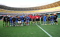 El Salvador National Team and DC United posing for a group photo.  DC United defeated El Salvador National Team 1-0 in a international charity match at RFK Stadium, Saturday June 19, 2010.