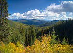 Idaho, North, Bonner County, Nordman. A early autumn view in the Selkirk mountains.