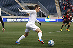 15 December 2013: Notre Dame's Evan Panken. The University of Maryland Terripans played the University of Notre Dame Fighting Irish at PPL Park in Chester, Pennsylvania in a 2013 NCAA Division I Men's College Cup championship match. Notre Dame won the game 2-1.